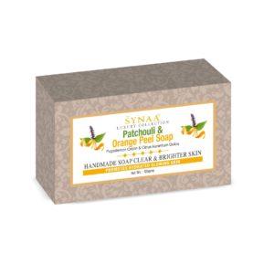 synaa patchouli & orange peel soap